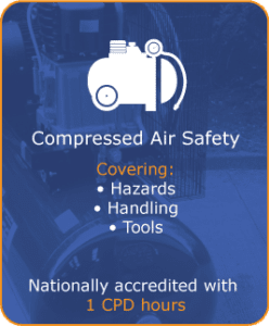 Compressed-air safety, covering handling hazards & tools