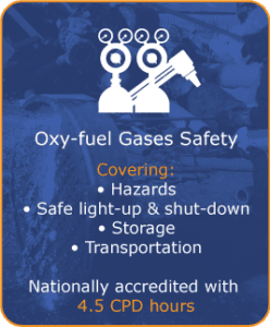Oxygen-acetylene propane safety training, safe light-up & shut-down, storage