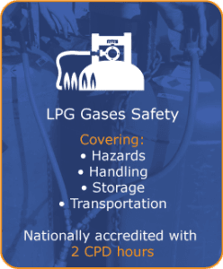 LPG Gases Safety Training, covering hazards, handling, storage & transportation