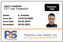 CP7 Gas Inspector Passport